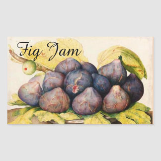 SEASON'S FRUITS / FIGS Preserve Canning Jar Rectangular Sticker