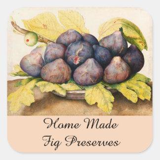 SEASON'S FRUITS / FIGS Preserve Canning Jar Square Sticker