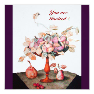 SEASON'S FRUITS  / FLOWERS ,PRUNES, AND LEAVES CARD