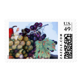 SEASON'S FRUITS / Grapes and Grape vines Stamp