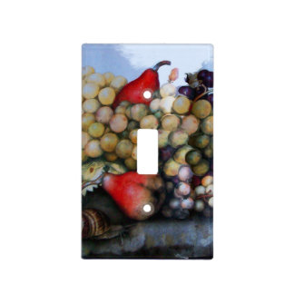 SEASON'S FRUITS /GRAPES AND PEARS LIGHT SWITCH PLATE