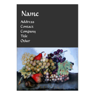 SEASON'S FRUITS /GRAPES AND PEARS STILL LIFE LARGE BUSINESS CARDS (Pack OF 100)