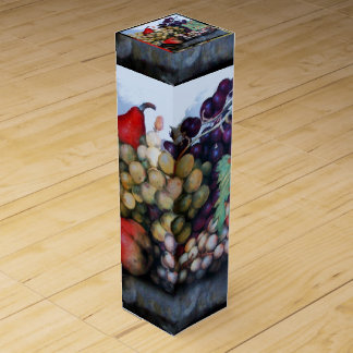 SEASON'S FRUITS / GRAPES AND PEARS WINE BOTTLE BOX