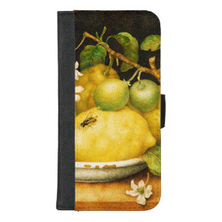 SEASON'S FRUITS LEMONS AND WHITE FLOWERS iPhone 8/7 PLUS WALLET CASE