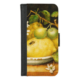 SEASON'S FRUITS LEMONS AND WHITE FLOWERS iPhone 8/7 WALLET CASE