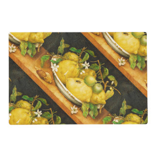 SEASON'S FRUITS LEMONS AND WHITE FLOWERS PLACEMAT