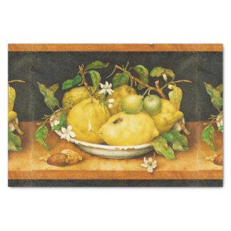 SEASON'S FRUITS LEMONS AND WHITE FLOWERS TISSUE PAPER