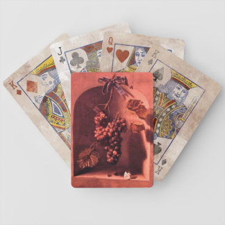 SEASON'S FRUITS PROSPERITY Antique pink red brown Bicycle Playing Cards
