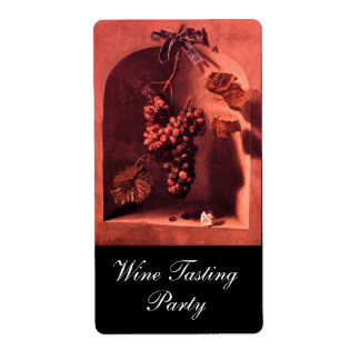 SEASON'S FRUITS -PROSPERITY Antique red,pink brown Label