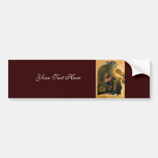 SEASON'S FRUITS -PROSPERITY brown yellow green Bumper Sticker