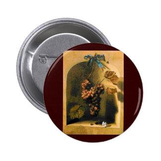 SEASON'S FRUITS -PROSPERITY brown yellow green Pinback Button