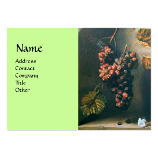 SEASON'S FRUITS - PROSPERITY detail,green Large Business Cards (Pack Of 100)