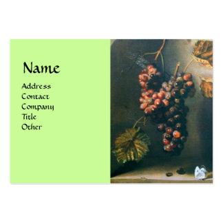 SEASON'S FRUITS - PROSPERITY detail,green Large Business Card
