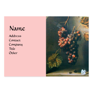 SEASON'S FRUITS - PROSPERITY detail,green pink Large Business Cards (Pack Of 100)