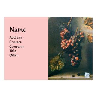SEASON'S FRUITS - PROSPERITY detail,green pink Large Business Card