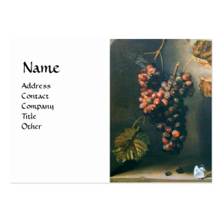 SEASON'S FRUITS - PROSPERITY detail,green white Large Business Card