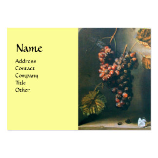 SEASON'S FRUITS - PROSPERITY detail,green yellow Large Business Cards (Pack Of 100)