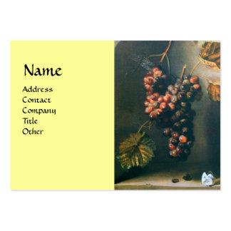 SEASON'S FRUITS - PROSPERITY detail,green yellow Large Business Card