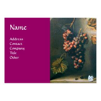 SEASON'S FRUITS - PROSPERITY detail,purple Large Business Card