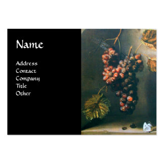 SEASON'S FRUITS - PROSPERITY, green brown black Large Business Cards (Pack Of 100)
