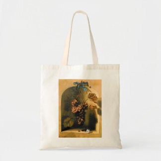 SEASON'S FRUITS -PROSPERITY HANGED GRAPES Rustic Tote Bag
