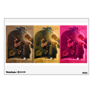 SEASON'S FRUITS PROSPERITY pink brown yellow Wall Sticker