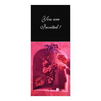 SEASON'S FRUITS - PROSPERITY ,pink red black Card