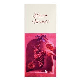 SEASON'S FRUITS - PROSPERITY pink red champagne Card
