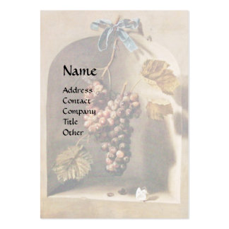 SEASON'S FRUITS - PROSPERITY ,pink red Large Business Card