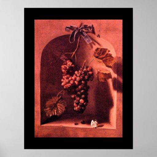 SEASON'S FRUITS -PROSPERITY pink red purple Poster