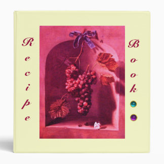 SEASON'S FRUITS /PROSPERITY RECIPE BOOK,purple red Binder