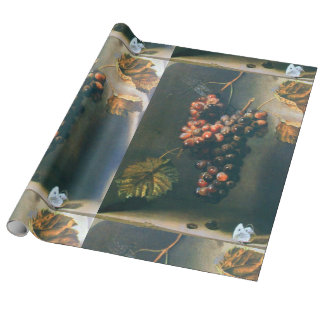 SEASON'S FRUITS,PROSPERITY Red Grapes ,Butterfly Wrapping Paper