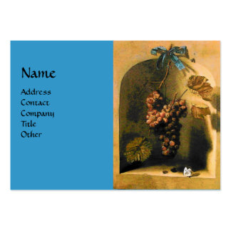 SEASON'S FRUITS -PROSPERITY yellow blue brown Large Business Cards (Pack Of 100)
