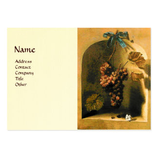 SEASON'S FRUITS -PROSPERITY yellow brown cream Large Business Cards (Pack Of 100)