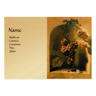 SEASON'S FRUITS -PROSPERITY yellow brown gold Large Business Card