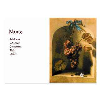 SEASON'S FRUITS -PROSPERITY yellow brown white Large Business Cards (Pack Of 100)