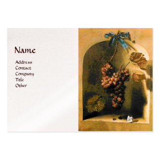 SEASON'S FRUITS -PROSPERITY yellow brown white Large Business Card