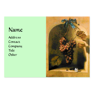 SEASON'S FRUITS -PROSPERITY yellow green brown Large Business Cards (Pack Of 100)