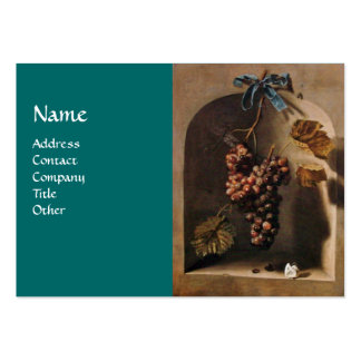 SEASON'S FRUITS - PROSPERITY ,yellow green brown Large Business Card
