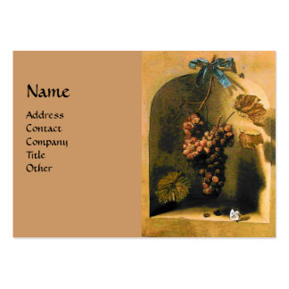 SEASON'S FRUITS -PROSPERITY yellow green brown Large Business Card