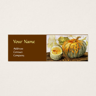 SEASON'S FRUITS / PUMPKINS MONOGRAM MINI BUSINESS CARD