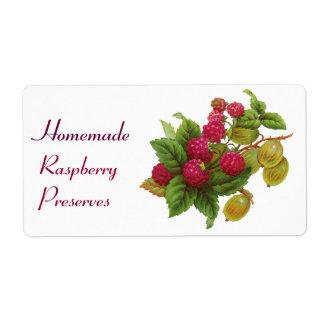 SEASON'S FRUITS / RASPBERRIES LABEL