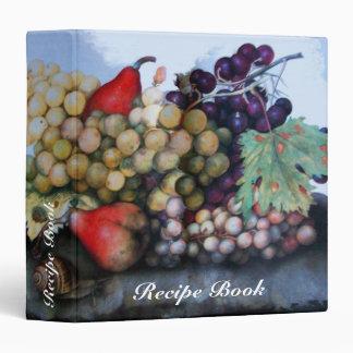 SEASON'S FRUITS RECIPE BOOK 3 RING BINDER