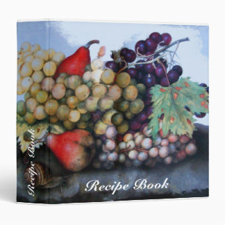 SEASON'S FRUITS RECIPE BOOK 3 RING BINDERS