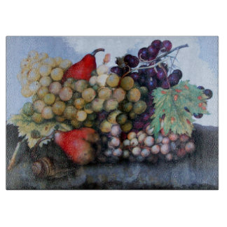 SEASON'S FRUITS / RED WHITE GRAPES AND PEARS CUTTING BOARDS