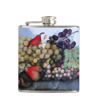 SEASON'S FRUITS / RED WHITE GRAPES AND PEARS FLASKS