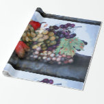 SEASON'S FRUITS / RED WHITE GRAPES AND PEARS GIFT WRAP PAPER