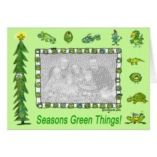 Seasons Green Things Holiday Card