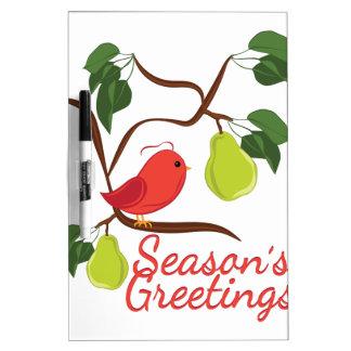 Seasons Greetin Dry-Erase Board