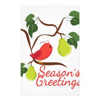 Seasons Greetin Stationery